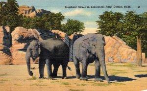 Michigan Detroit Zoological Park Elephant House