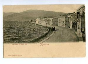 144691 TURKEY SMYRNE IZMIR quay Vintage postcard
