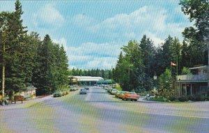 Canada Main Street Business Section Waskesiu Prince Albert National Park Sask...