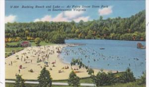 Virginia Bathing Beach and Lake At Fairy Stone State Park