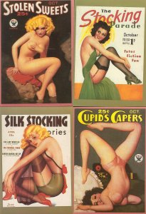 pc13491 postcard Magazine covers REPRODUCTIONS FOUR  not used
