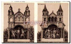 Old Postcard Jesus in the Garden Lourdes