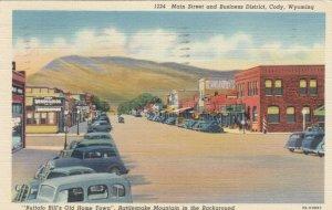 CODY , Wyoming, 1930-40s; Main Street