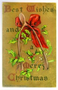 East Elma, New York local use 1907 embossed Christmas Postcard