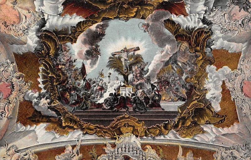 Trier Paulinuskirche Deckengemaelde, Der Tirumph des Kreuzes