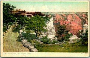 1907 GRAND CANYON Fred Harvey Postcard HOTEL EL TOVAR Detroit #8797 Unused