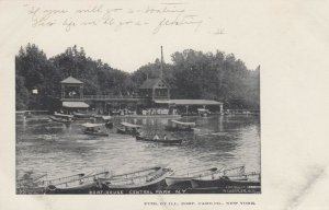 CENTRAL PARK, New York, 1895; Boat House