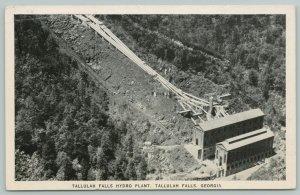 Tallulah Falls Georgia~Hydro-Electric Plant Under Construction? Aerial Vw~1940s