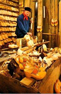 Netherlands Clogmaker In His Workshop