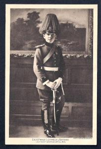 Prince Leopold of Bavaria Young Artillery Man unused c1910's