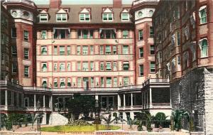 Portland Oregon~Court Hotel~Ivy Covered Close Up~1910 Postcard