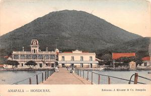 Honduras Old Vintage Antique Post Card Amapala Postal Used Unknown, Missing S...