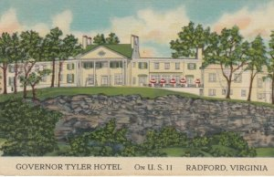 RADFORD, West Virginia, 1930-40s; Governor Tyler Hotel, U.S. 11