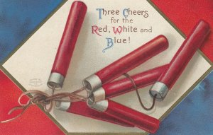 CLAPSADDLE ; July 4th , Firecrackers , The Red , White & Blue , 1908