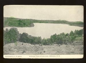 Hillsboro, New Hampshire/NH Postcard, Birds-Eye View Of Loon Lake