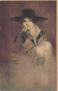 ART DECO ; MAUZAN ; Female Fashion Head Portrait #2, 1910-30s