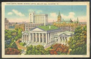 Virginia, Richmond, State Capitol, mailed in 1930s