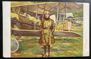 Mint France Picture Postcard Capt Guynemer And Vieux Charles Airplane