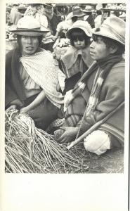 ecuador (?), Native Indians at the Market (1940s) RPPC (2)