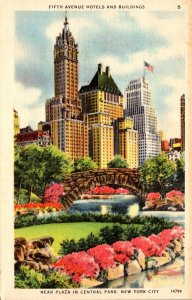 New York Fifth Avenue Hotels Near Plaza In Central Park 1947