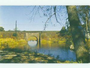 Unused Pre-1980 BRIDGE SCENE Clinton Connecticut CT HQ9446