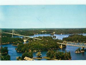 Kingston Ontario Canada Thousand Island Bridge Bensons Rift   Postcard # 5821