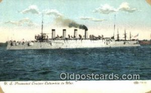 US Protected Cruiser Columbia Military Battleship Unused a lot of corner wear