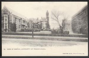 Campus University Pennsylvania Philadelphia PA Postcard 5107