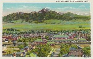 LIVINGSON, Montana, 1910-30s; Bird'd Eye View