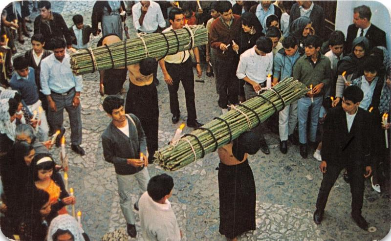 TAXCO GUERRERO MEXICO los PENITENTES PENANCE DURING CATHOLIC HOLY WEEK POSTCARD