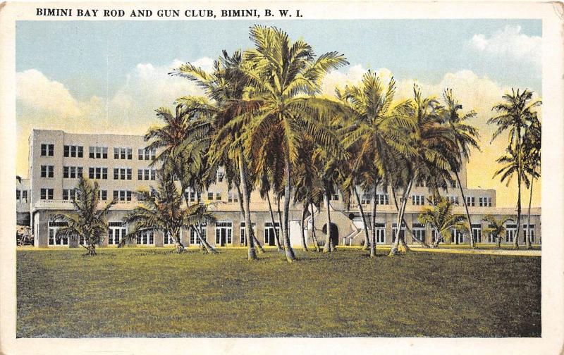 E56/ Foreign Postcard Carribean Bimini Bay Gun Club B.W.I. West Indies c1910