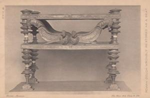 Roman Couch Wrongly Restored As A Seat Antique Postcard