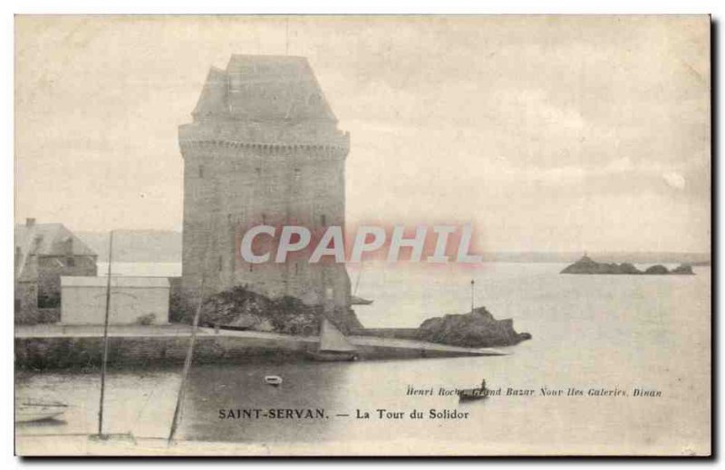 Saint-Servan Old Postcard Tower of Solidor