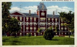 Shaw Building, Shaw University Raleigh NC 1946