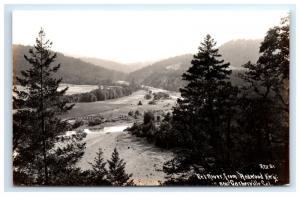 Postcard Eel River from Redwood Hwy near Garberville, CA RPPC  D14