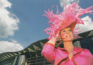 Ladies Day Fashion at Ascot Race Course Rare Large 1990s Advertising Postcard