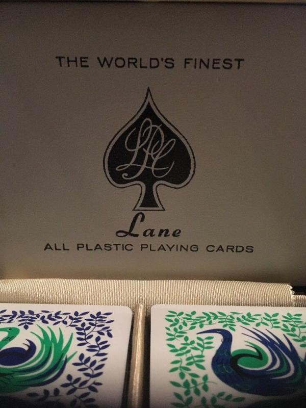 Vintage Lane All Plastic Playing Cards Double Deck with Case, Birds