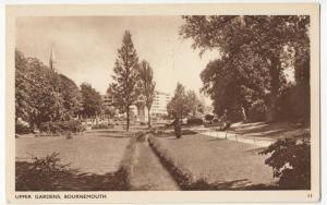 Dorset; Upper Gardens, Bournemouth No 11 PPC By Dearden & Wade, Unposted, Sepia