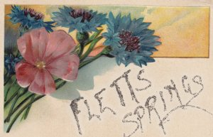 FLETTS SPRINGS , Sask.  , 1914 ; Greetings ; PFB 6096