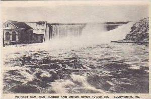 Maine Ellsworth 70ft Dam Bar Harbor and Union River Power Co Albertype