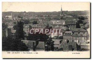 Old Postcard Le Mans Vue Generale