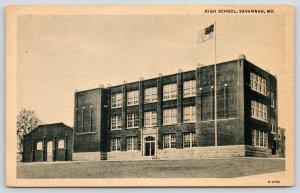 Savannah Missouri~Three-Story High School~1933* (Built 1920s?)~Annex for Shop?