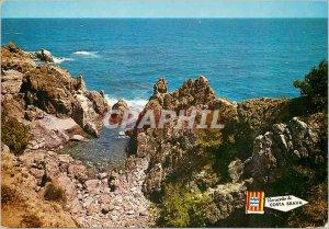 Postcard Modern S'Agaro Costa Brava Costa Detalle