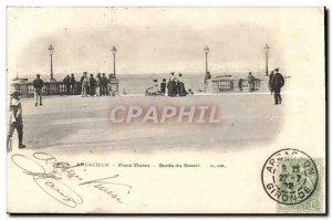 Old Postcard Arcachon Basin Edges Place Thiers