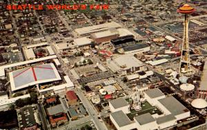 WA - Seattle, 1962. Seattle World's Fair (Century 21 Exposition). Aerial View