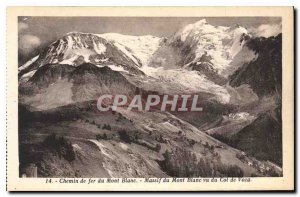 Old Postcard Mont Blanc Railway Mont Blanc seen from the Pass of Voza