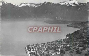 Modern Postcard St Gingolph (Switzerland) Rhone delta and the Vaud Alps