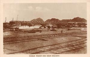 Yemen Maala Wharf and Aden Railway, Railroad, Ships, Boats, Port