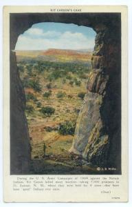 Linen of Kit Carson Cave near Gallup New Mexico NM 1937