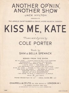 Another Op'nin Opening Another Show Cole Porter 1950s Sheet Music